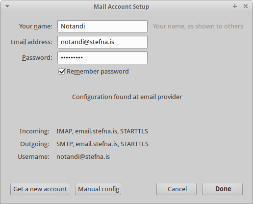 Mail Account Setup - Auto config