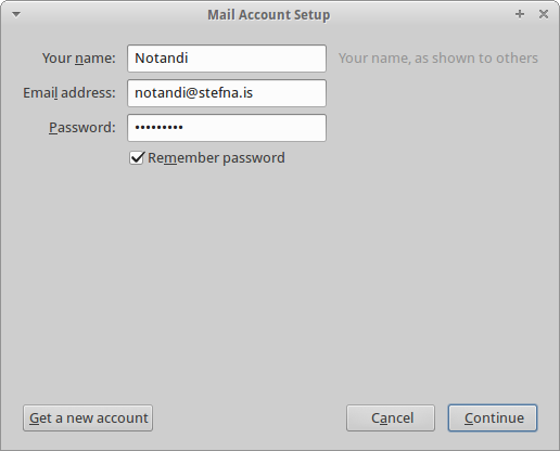 Mail Account Setup