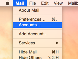 Apple Mail - Accounts